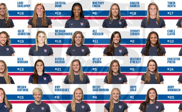 USA Soccer team Girls