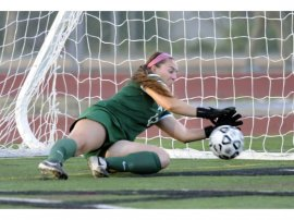Corona Santiago goalie Paige Simoneau was selected girls soccer Player of the Year in Division 2 by the CIF-Southern Section. Simoneau has signed with San Jose State.