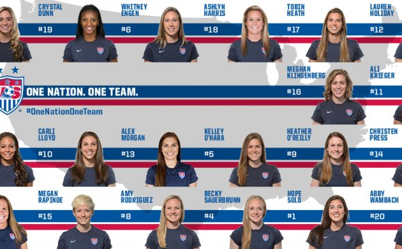 USA women Soccer players