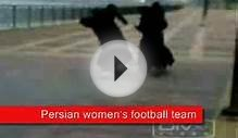 Iranian Womens Soccer Team in Action