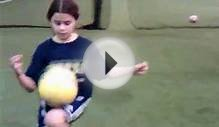 Long Island U9 girl juggling and sets New Record at 1072.