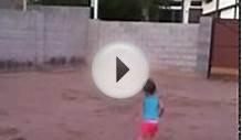 My baby girl playing soccer like Cristiano Ronaldo